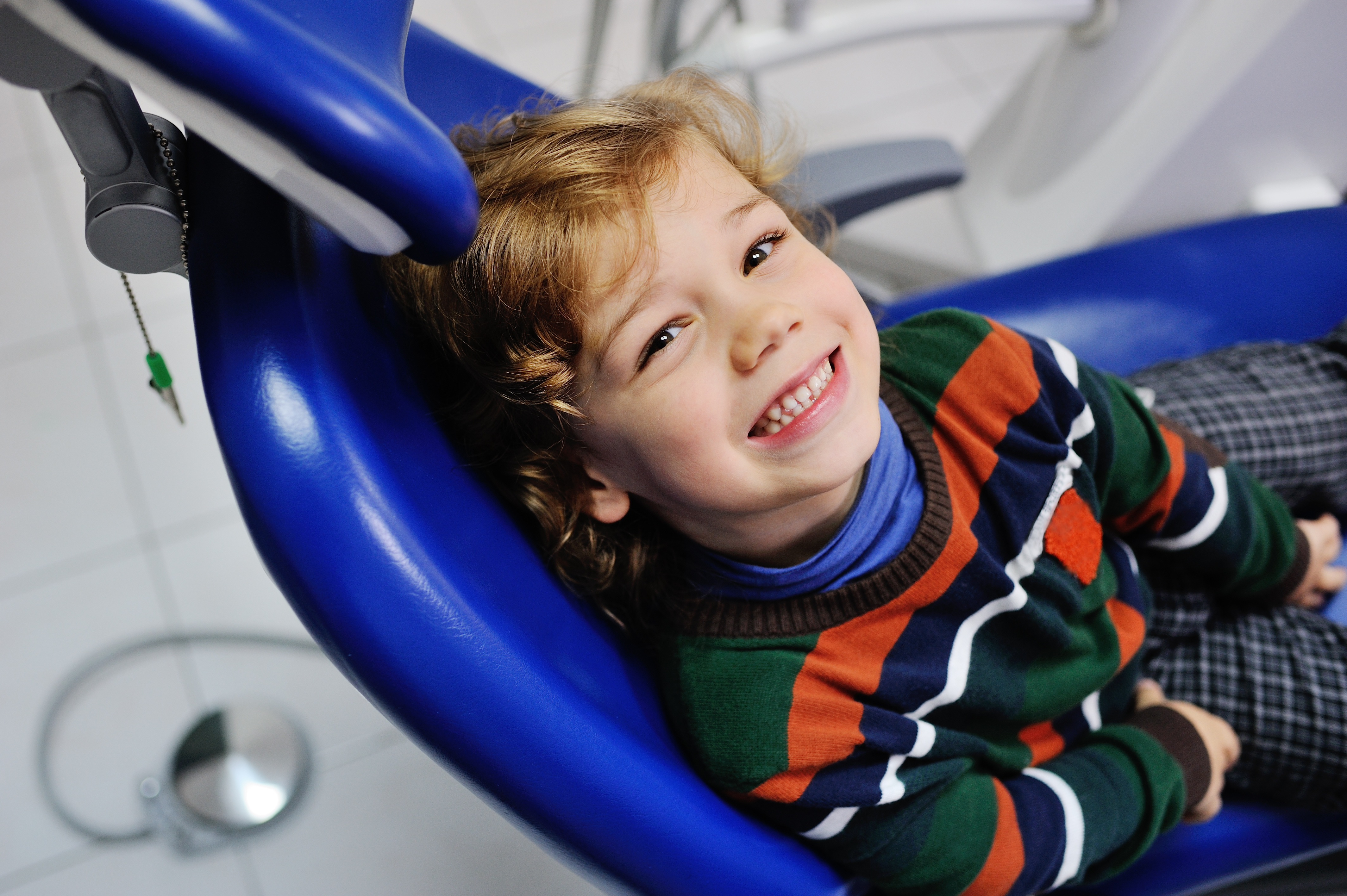 Child happy at the dentist